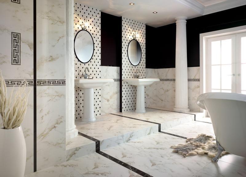 Carrelage salle de bain blanc et noir - Atwebster.fr - Maison et ...