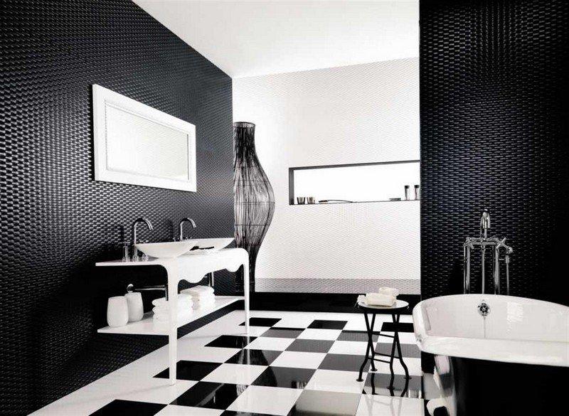Carrelage noir blanc gris - Atwebster.fr - Maison et mobilier