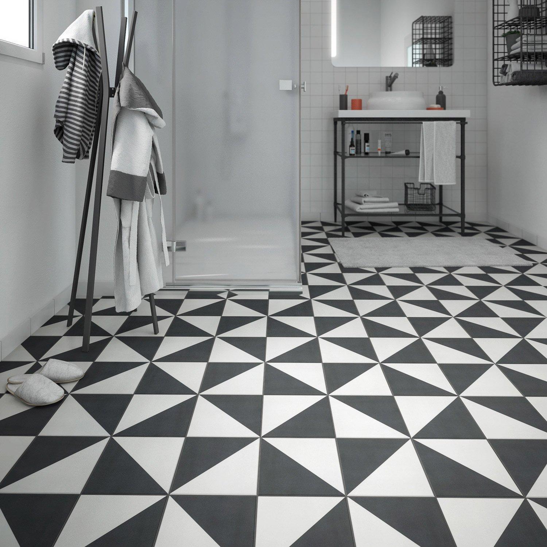 Carrelage noir et blanc motif