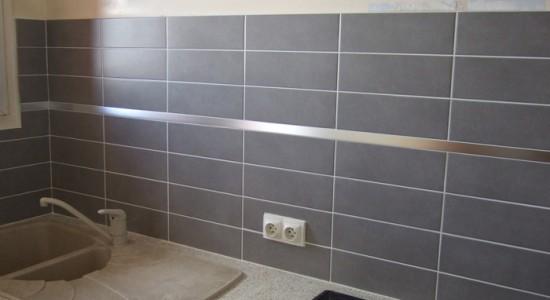 Carrelage mural cuisine gris clair maison et mobilier - Decoration carrelage mural cuisine ...