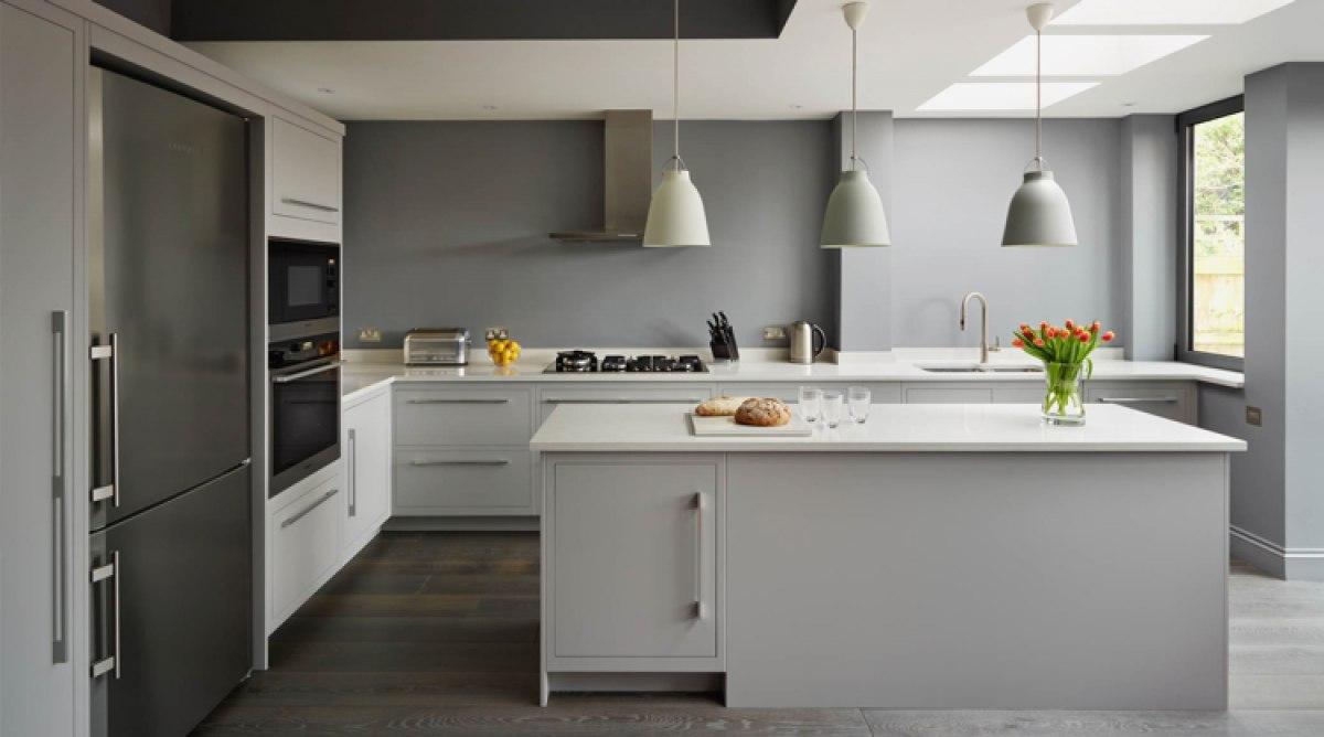 Couleur pour cuisine grise maison et mobilier - Cuisine couleur grise ...
