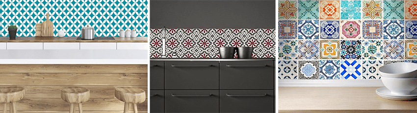 Carrelage adh sif imitation carreaux de ciment maison et mobilier - Carreaux de ciment adhesif cuisine ...