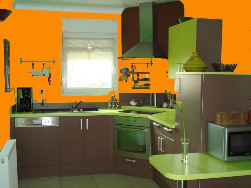 Salon Orange Et Vert