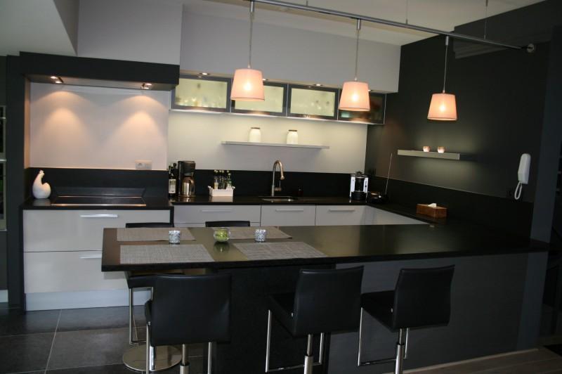 Table bar pour cuisine américaine - Atwebster.fr - Maison et mobilier
