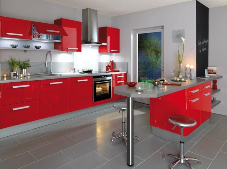 Idée déco avec cuisine rouge - Atwebster.fr - Maison et mobilier