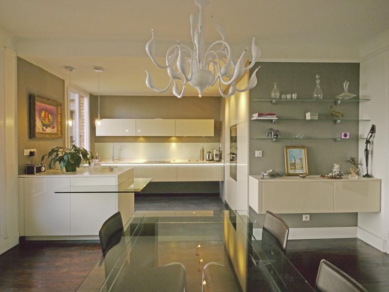 Couleur mur cuisine avec meuble beige - Atwebster.fr - Maison et ...