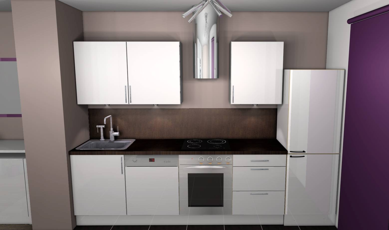 Deco cuisine beige laqué - Atwebster.fr - Maison et mobilier