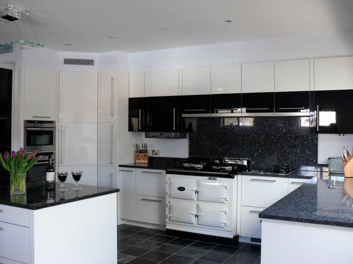 Carrelage blanc et noir cuisine - Atwebster.fr - Maison et mobilier