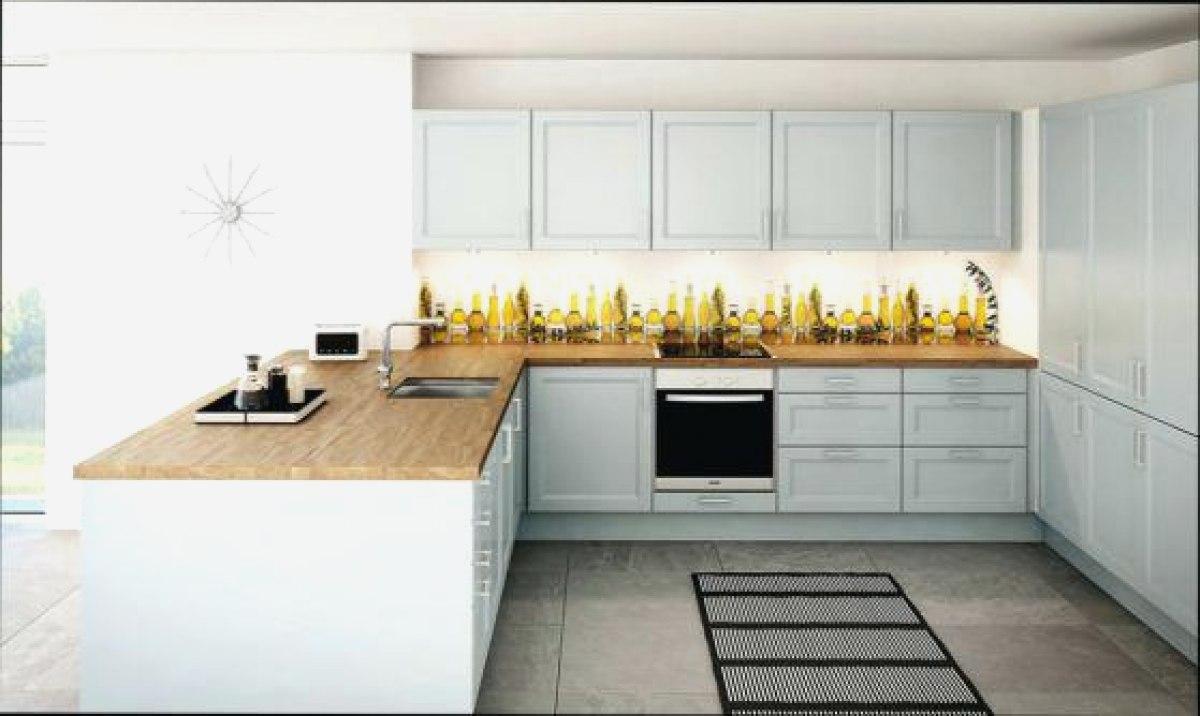 plan de travail bois cuisine blanche maison et mobilier