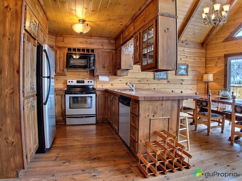 Modele cuisine pour chalet maison et mobilier - Cuisine chalet montagne ...