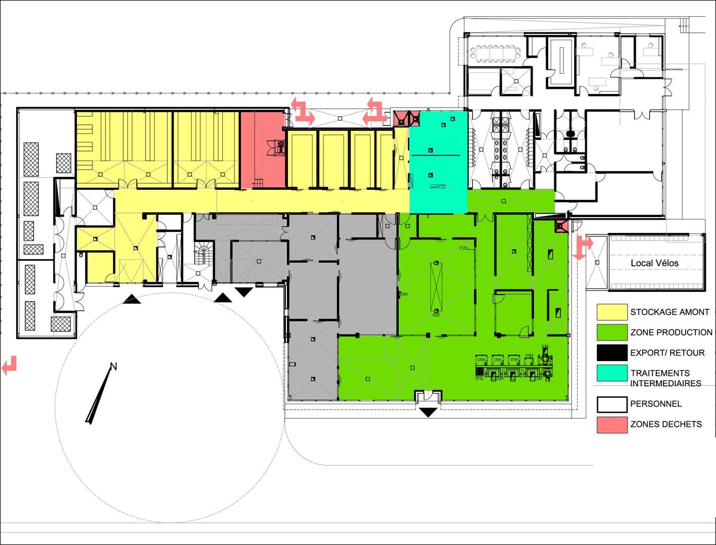 Plan d 39 une cuisine centrale maison et - Definition d une cuisine centrale ...