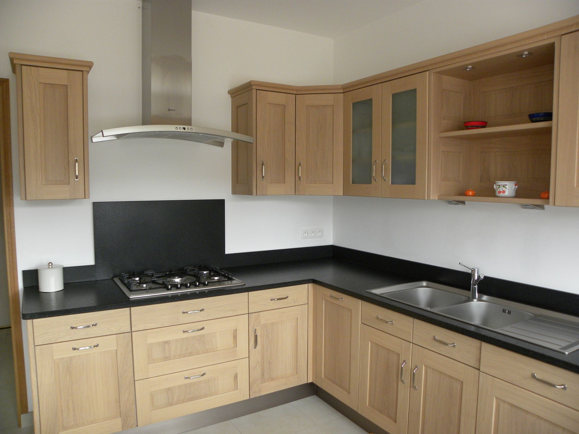 Porte armoire cuisine chene maison et - Porte de cuisine en bois ...
