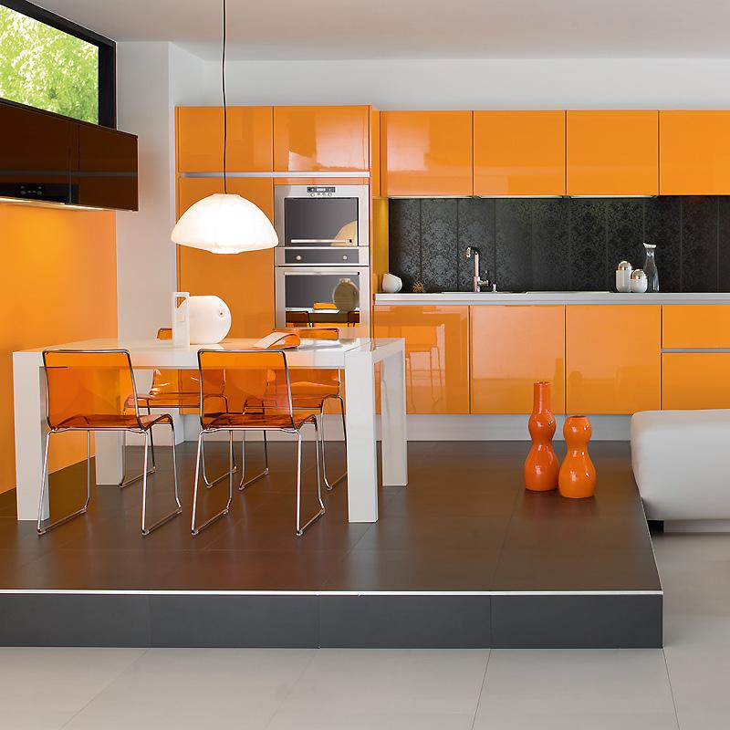 Decoration cuisine jaune orange - Atwebster.fr - Maison et mobilier