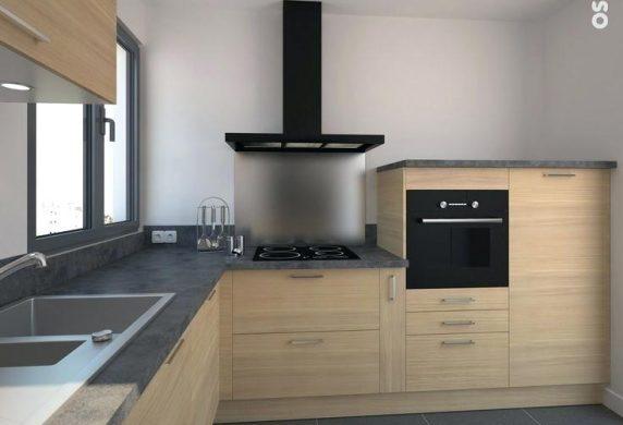 couleur mur cuisine bois maison et mobilier. Black Bedroom Furniture Sets. Home Design Ideas