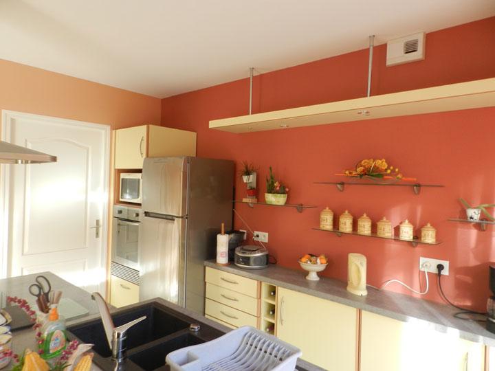 Deco peinture cuisine moderne maison et mobilier - Idee deco peinture cuisine ...