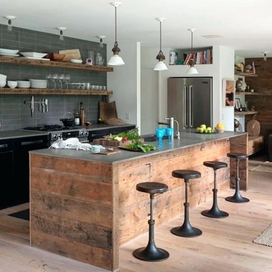 Photo cuisine bois naturel maison et mobilier - Cuisine bois naturel ...