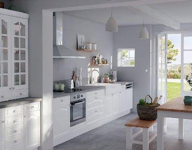 mod le cuisine quip e castorama maison. Black Bedroom Furniture Sets. Home Design Ideas
