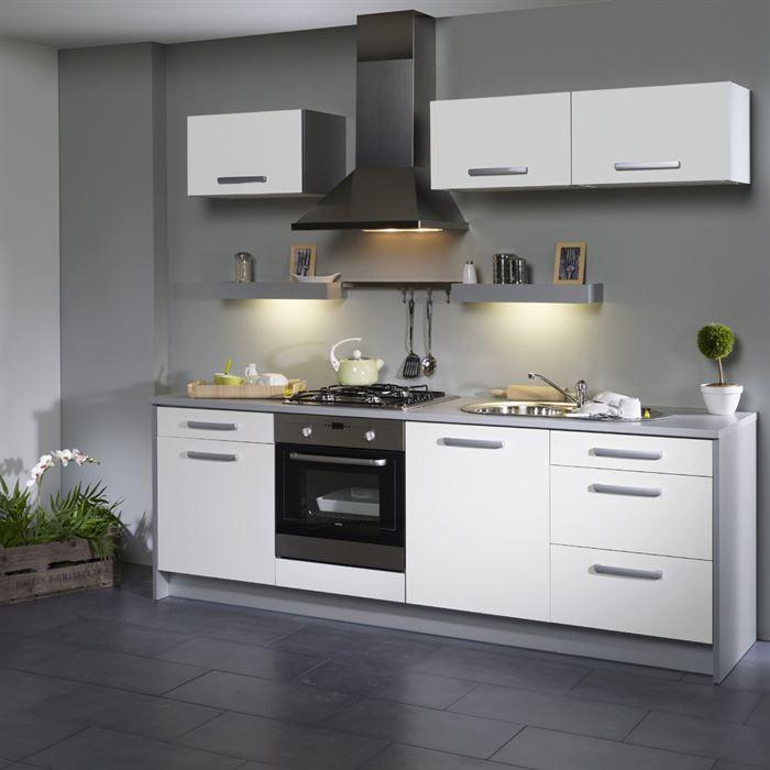 Deco cuisine gris et blanc - Atwebster.fr - Maison et mobilier