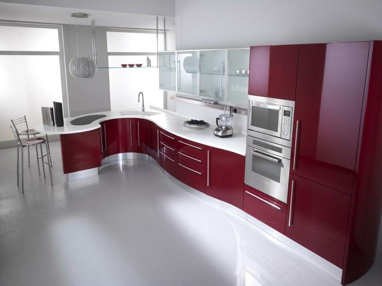 Photo cuisine rouge et grise - Atwebster.fr - Maison et mobilier
