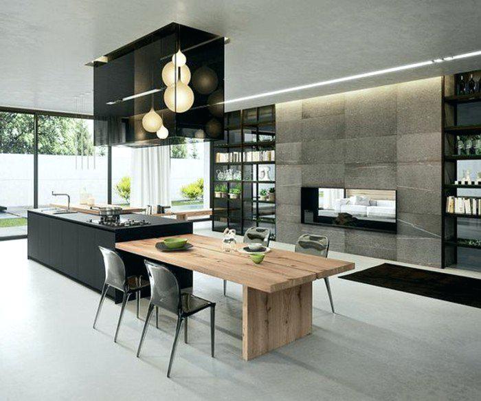 Modele cuisine avec ilot central table - Exemple cuisine avec ilot central ...