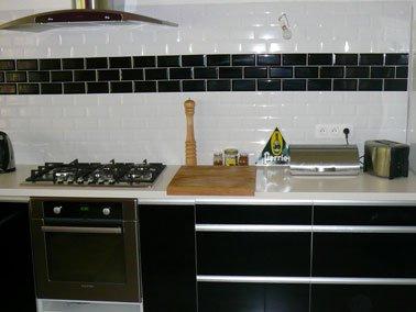 Carrelage Mural Cuisine Noir Et Blanc Atwebster Fr Maison Et