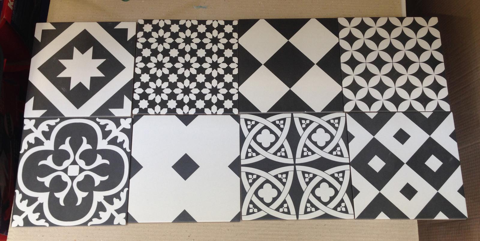 Carrelage Carreaux De Ciment Noir Et Blanc Atwebster Fr Maison