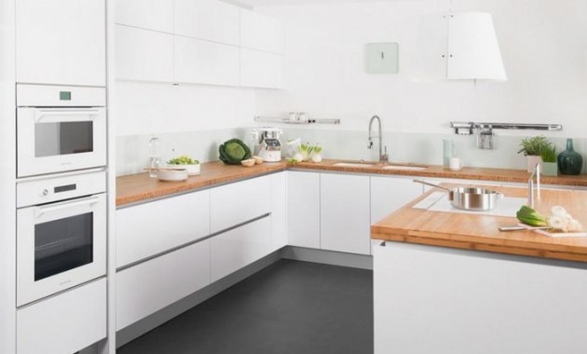 plan de travail cuisine bois blanc maison. Black Bedroom Furniture Sets. Home Design Ideas