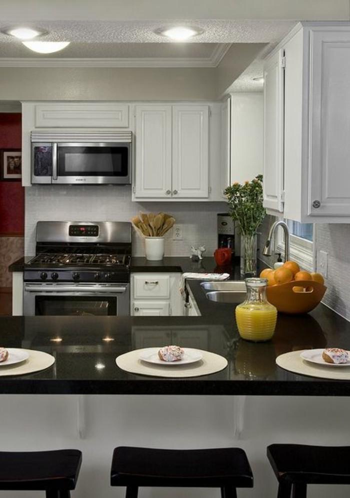 Petite cuisine en u ouverte maison et - Cuisine ouverte en u ...