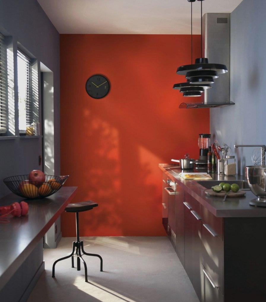 Couleur Des Murs Pour Une Cuisine: Couleur Mur Cuisine Orange