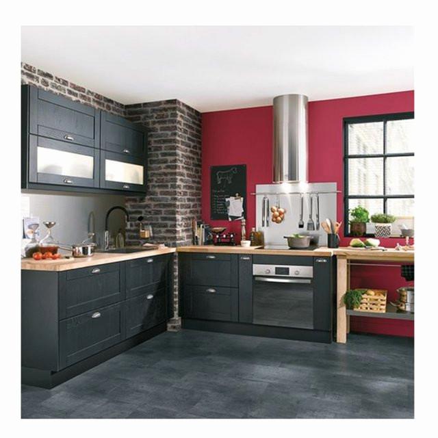 Couleur mur cuisine gris fonc maison et mobilier - Cuisine gris fonce ...