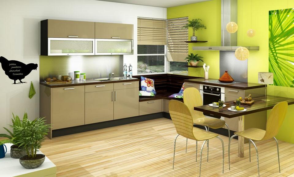 Decoration pour cuisine beige - Atwebster.fr - Maison et mobilier