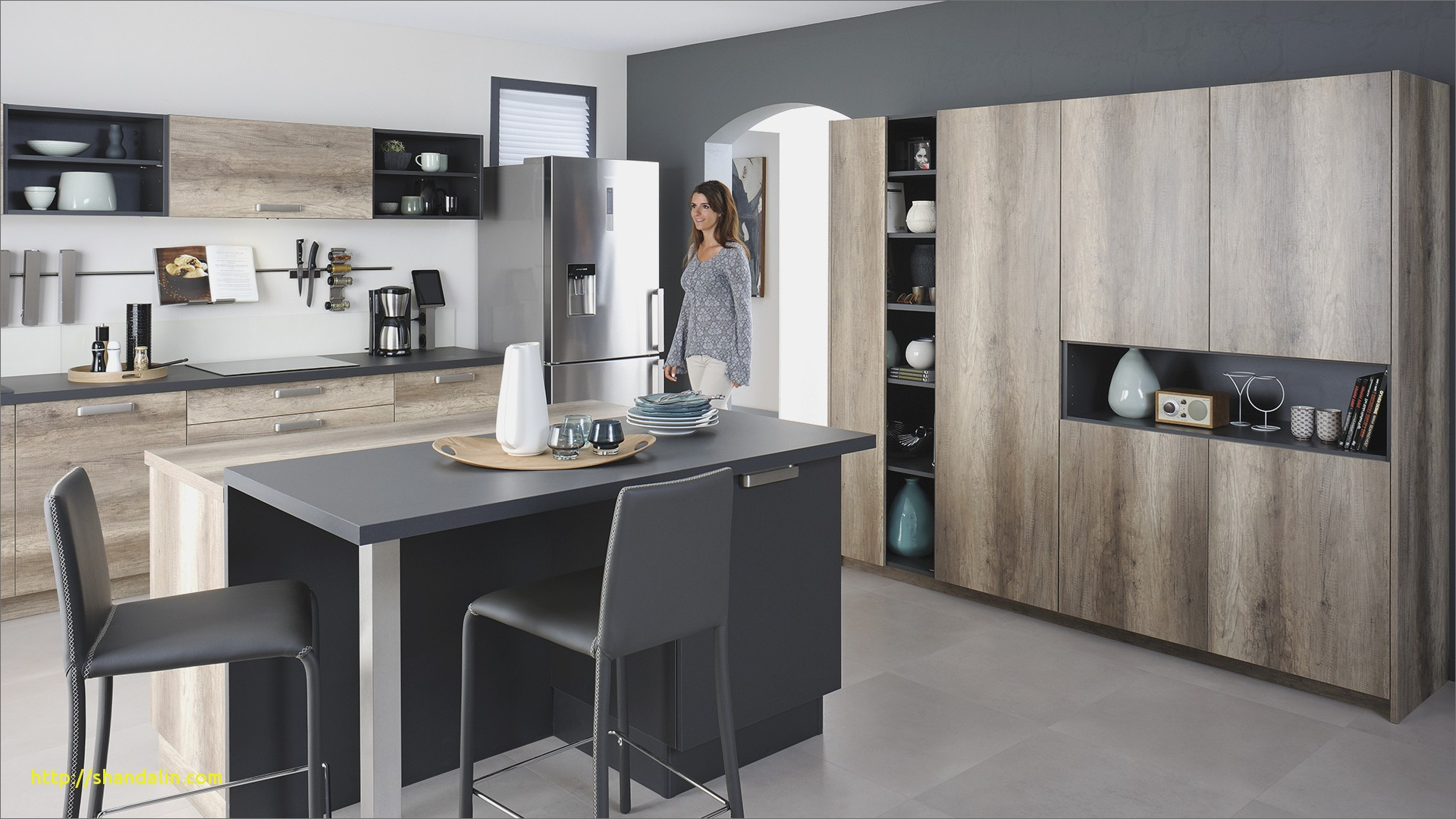 mod le de cuisine chez cuisinella maison. Black Bedroom Furniture Sets. Home Design Ideas