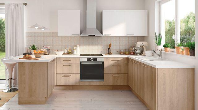 Modele d 39 implantation de cuisine maison et mobilier - Idee cuisine en l ...