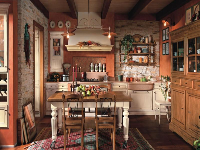 deco cuisine rouge campagne maison et mobilier. Black Bedroom Furniture Sets. Home Design Ideas