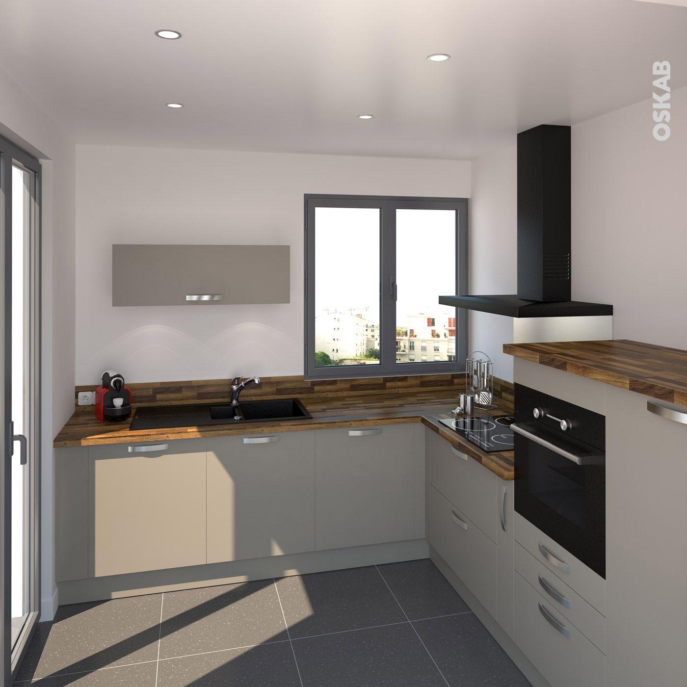Modele de cuisine avec plan de travail en bois maison et mobilier - Modele de plan de travail cuisine ...
