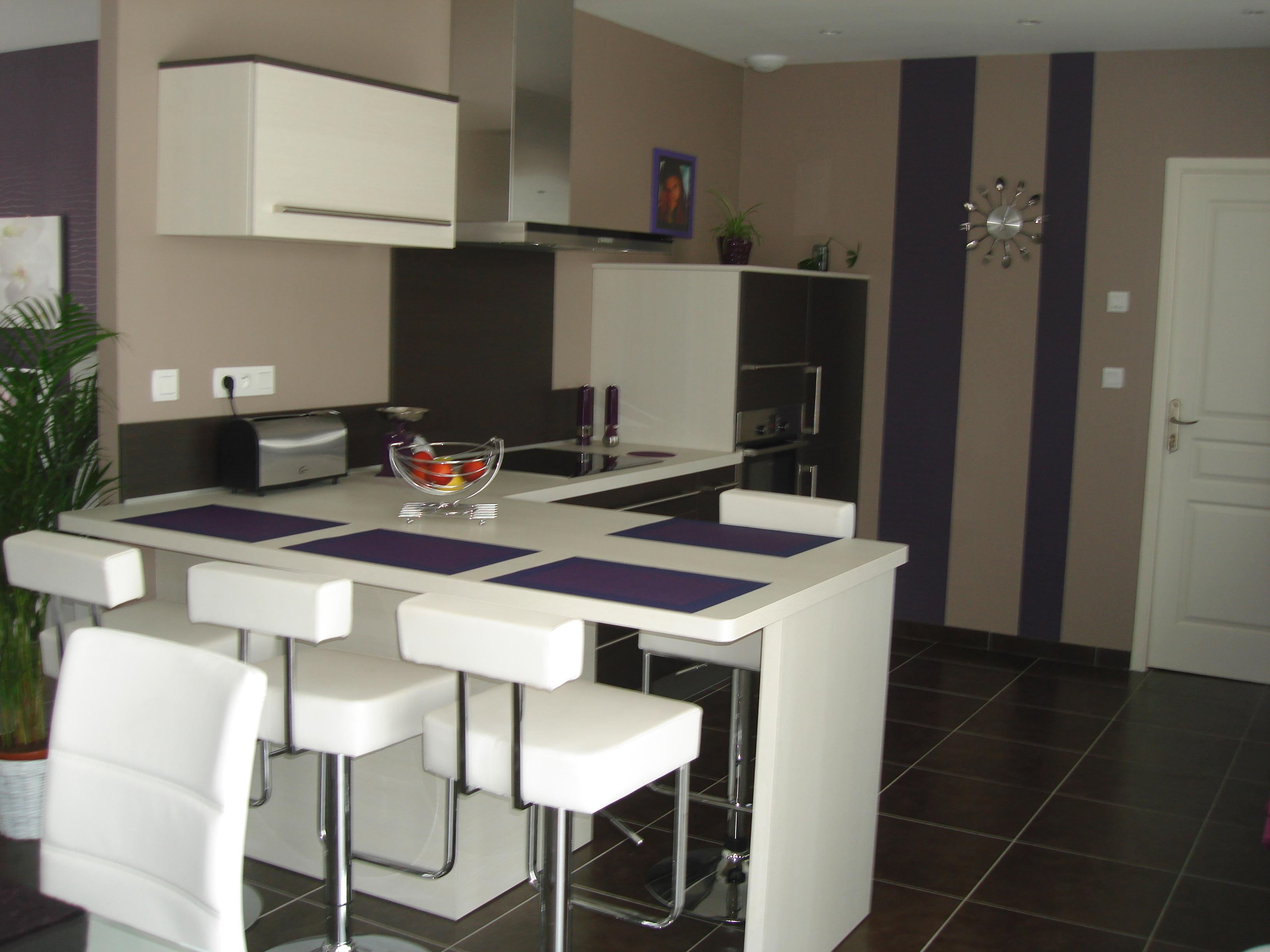 Deco peinture cuisine ouverte sur salon - Deco salon et cuisine ouverte ...