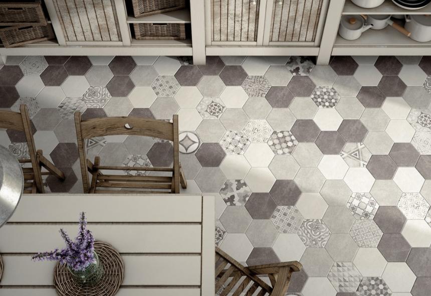 Carrelage hexagonal bleu canard - Atwebster.fr - Maison et mobilier