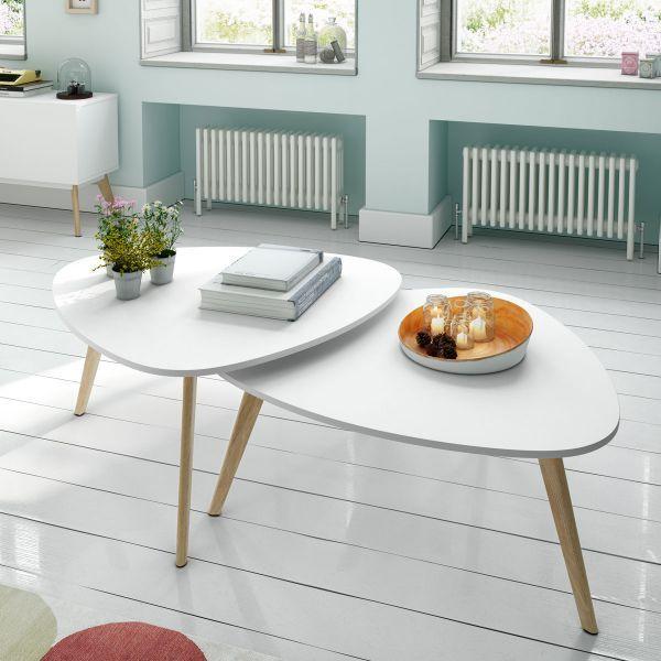 Table Basse Scandinave Blanche Pas Cher Atwebsterfr Maison Et