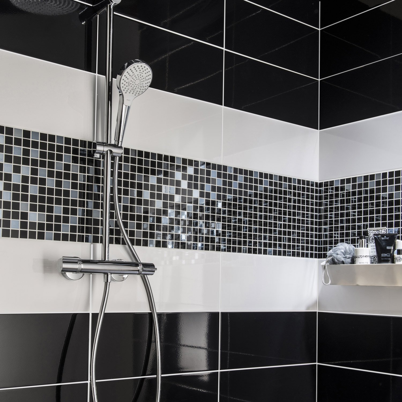 Carrelage salle de bain noir leroy merlin - Atwebster.fr - Maison et mobilier