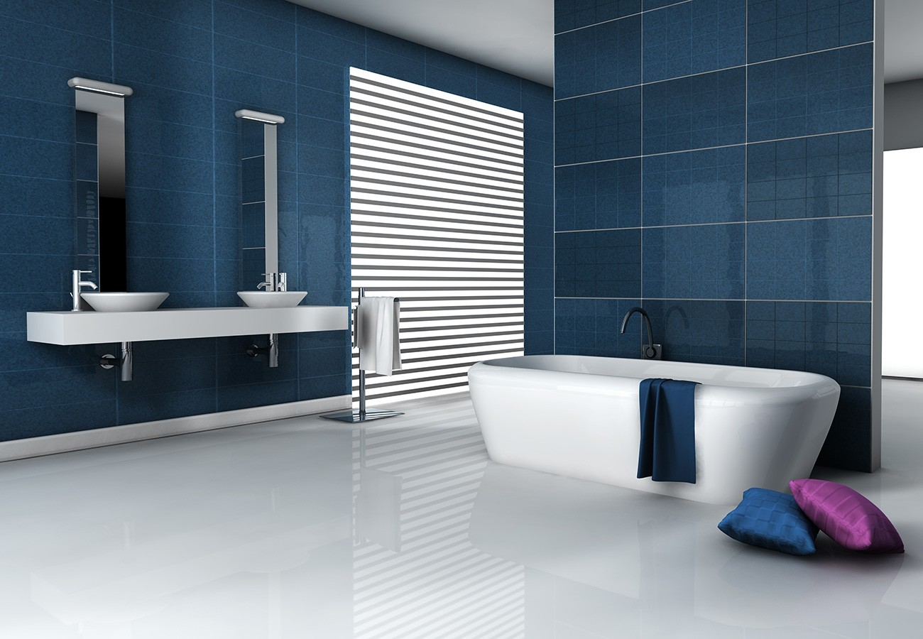 Carrelage bleu moderne - Atwebster.fr - Maison et mobilier