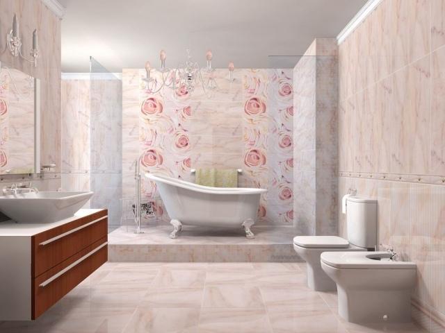 Carrelage salle de bain rose et gris - Atwebster.fr - Maison et mobilier