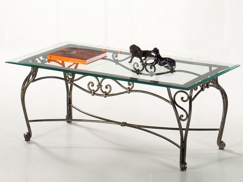 Table basse fer forg et verre pas cher maison et mobilier - Table basse fer forge et verre ...