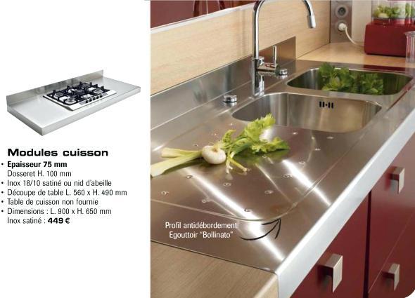 Plan de travail en inox pour cuisine maison et mobilier - Plan de travail en inox pour cuisine ikea ...
