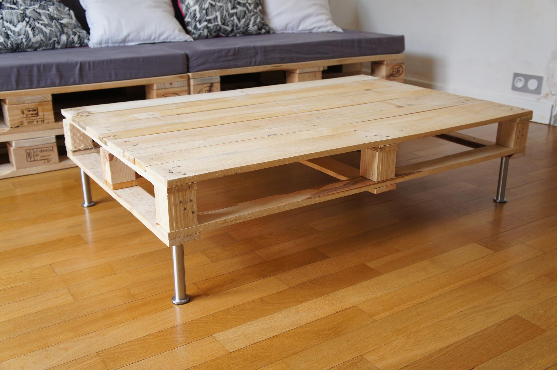 Table basse en bois de palette excellent table basse table basse with table basse en bois de - Palettes table basse ...