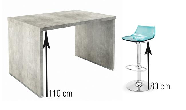 Table bar cuisine hauteur maison et mobilier Hauteur bar cuisine ikea