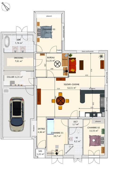 Plan Cuisine Sejour Salon Atwebster Fr Maison Et Mobilier
