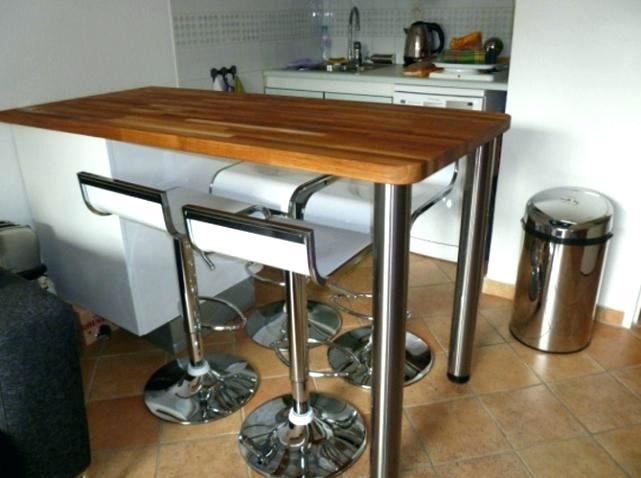 Table cuisine haute avec rangement maison - Table bar cuisine conforama ...