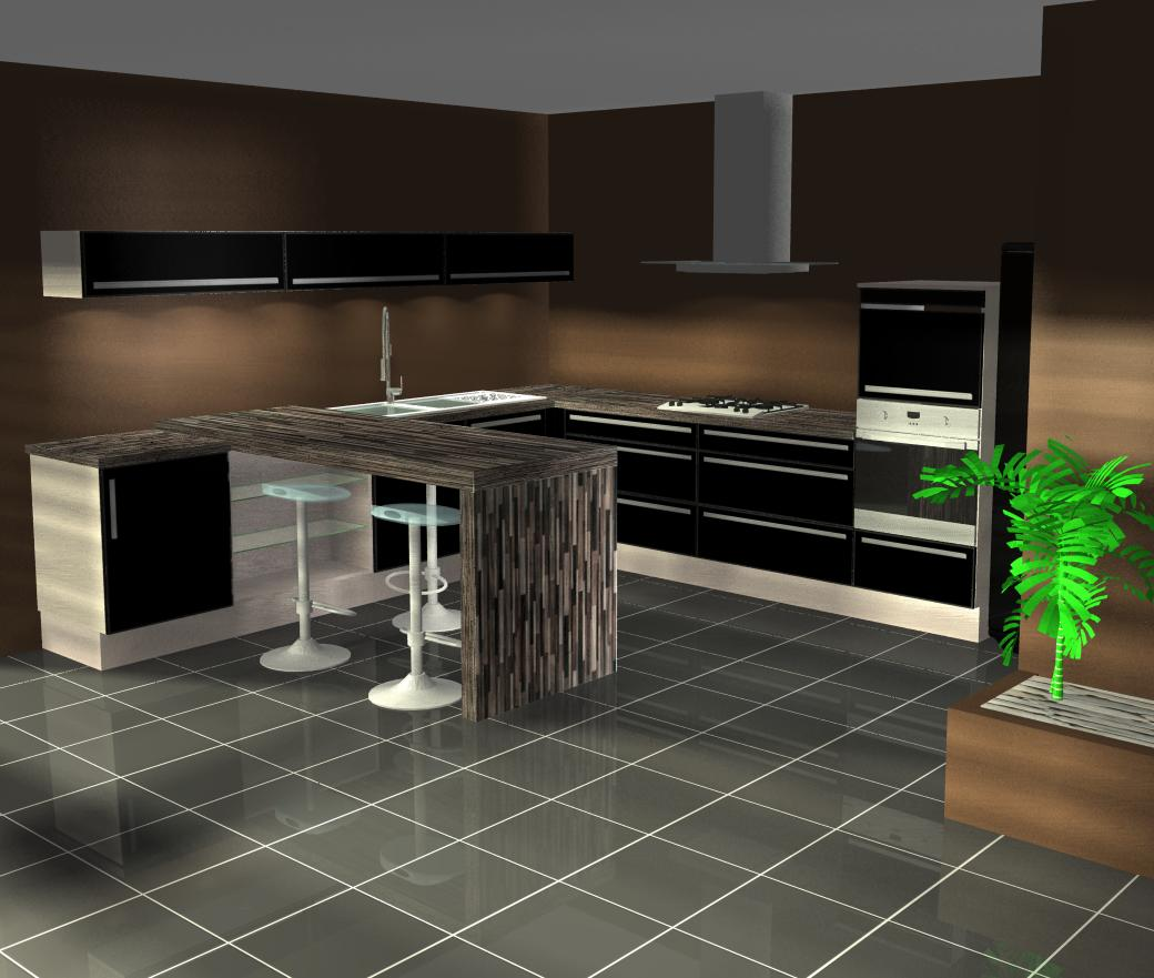 couleur pour cuisine ouverte maison et. Black Bedroom Furniture Sets. Home Design Ideas