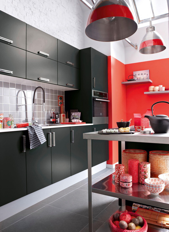 Deco Cuisine Rouge A Pois Blanc Atwebster Fr Maison Et Mobilier
