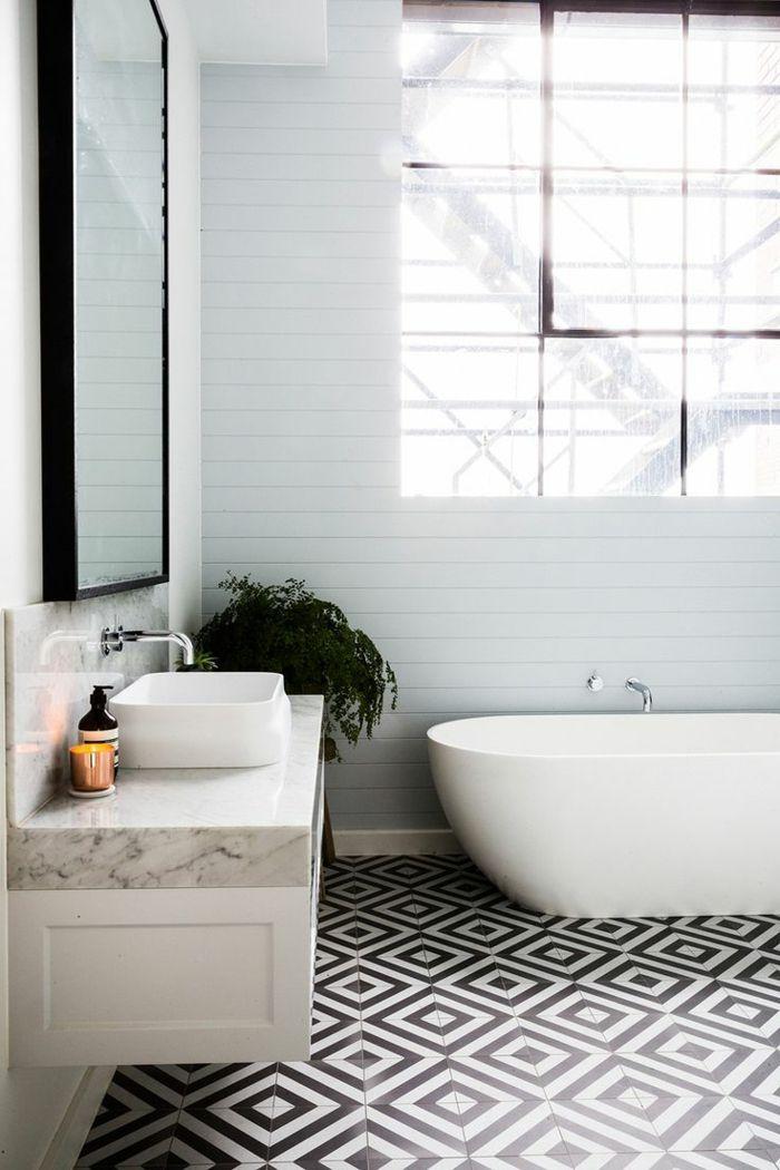 carrelage noir et blanc vintage maison et. Black Bedroom Furniture Sets. Home Design Ideas